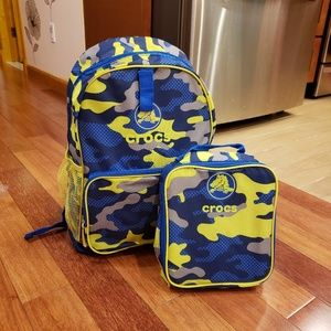*NEW*Crocs Backpack with Matching Lunchbag